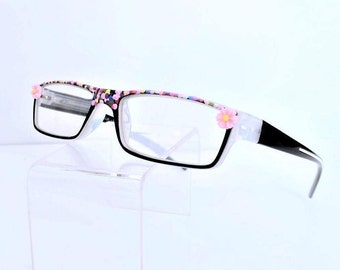 Reading Glasses with Pretty Pink Flowers, Women Readers +3.50