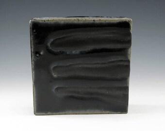 Wall Art - Modern Art, Handmade Pottery, Home Decor, Black, Gray, Wall Art Decor, Office Decor, Modern Artwork, Ceramic Sculpture, W002