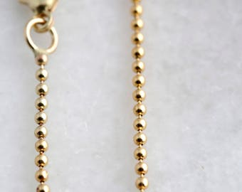 Add a 14k Solid Gold Ball Chain (1.5mm)