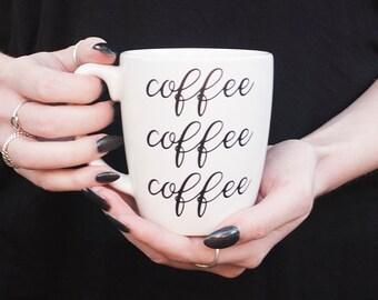 Gilmore Girls coffee coffee coffee mug, Gilmore girls coffee mug, Gilmore girls mug, Stars Hollow mug, gilmore girls quotes, coffee lover
