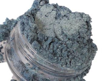 VAPOR Blue Eye Shadow Shimmer Ocean Mineral Makeup EyeShadow 5g Sifter Jar Cosmetics Eyeliner Eye Petite Size Glitter  Natural Vegan VAPOR