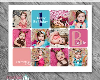 Instant Download 16x20 Storyboard Collection 2, Collage 20 - custom 16x20 and 8x10 photo collage/storyboard template