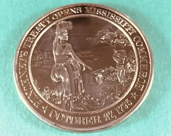 Franklin Mint Medal History of United States Series Pinckney's Treaty 1795 44 mm Bronze Mint Condition<>#PSY-5
