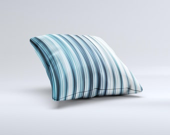 The Vibrant Light Blue Strands ink-Fuzed Decorative Throw Pillow