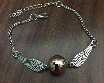Snitch Bracelet, Harry Potter Bracelet, Hogwarts, Quidditch, Students Gift, Geek Gifts, Best Friends Gifts