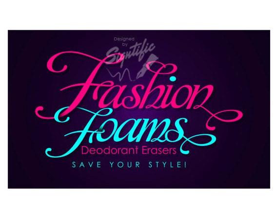 Custom Text Logo, Logo, Logos, Signature Logo, Business Logo, Logo in Any Colors, Teal Pink Logo, Fashion Logo, Couture Logo, Boutique Logo