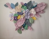 Blooming Paper Flowers Wall Art Installation Piece - 2014 - Hand Assembled