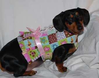 Pink and Brown dachshund harness