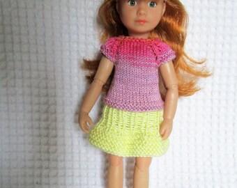 Skirt and pullpour doll Kruselings of Käthe Kruse, 23cm doll.