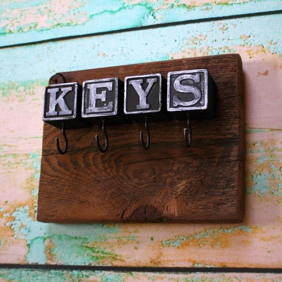 Black Block Barn Lumber Key Rack