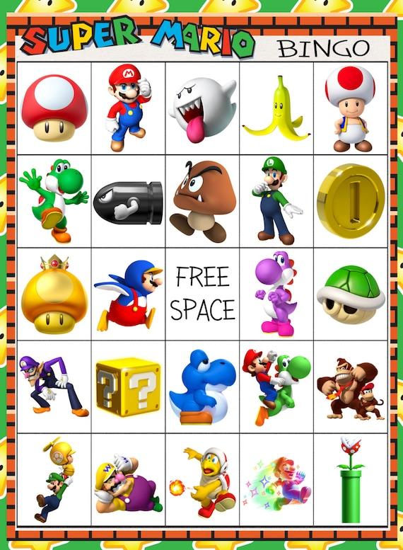 Super Mario Brothers Bingo 10 Card