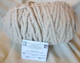 100% Alpaca Bulky Rug Yarn - Creamy White - 100 Yards - All Natural - No Dyes