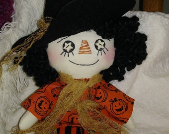 10' doll, Witch Rag doll Holloween Raggedy witch Witch doll Raggedy Ann Pimitive witch doll