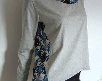 Grey lightweight sweater and handmade Sofya FDX pattern