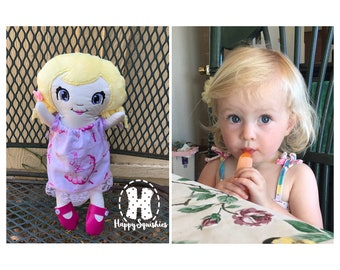 Custom Doppel Doll - Handmade Doll - Lookalike Doll - Cloth Doll - Personalized Doll Made to Order