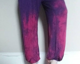 Pink Spray Purple Pants
