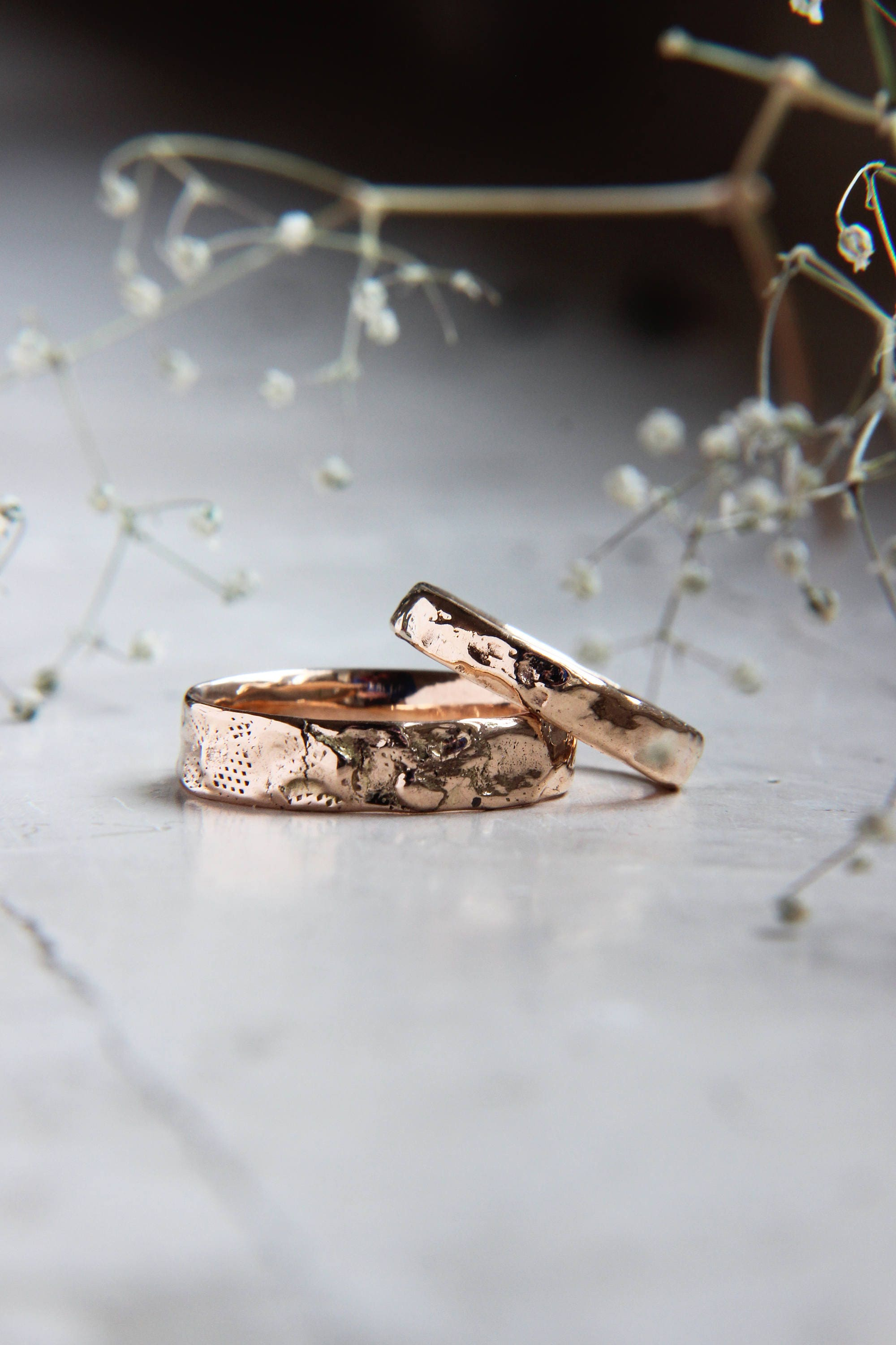 band listing gold fullxfull wedding modern textured ring set il unique rustic rings bands