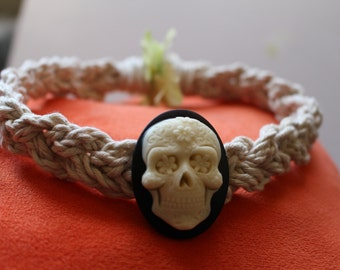 Sugar Skull Braided Choker