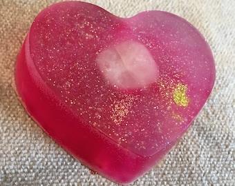 Crystal Soap Bar, Rose Quartz Soap Bar, Coconut Soap Bar