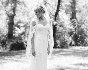 Partial Lace Wedding Veil