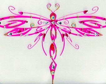 Hombro joyería, joyería de la libélula, libélula tatuajes, ropa exótica, bajar tatuajes espalda, tatuajes temporales, joyería del cuerpo, SHDJ-31