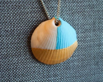 Hand Painted Shell Necklace