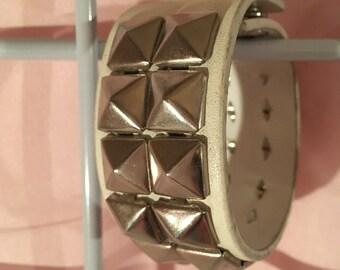 Vintage 1990s stud bracelet.  Adjustable-- Two Sizes.  Excellent condition.