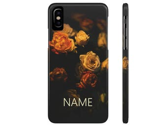 Personalized Phone Case, Rose Phone Case, iPhone X, iPhone 8, iPhone 7, iPhone 6, Galaxy S9, Galaxy S8, Galaxy S7, Galaxy S6 Case