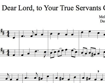 Dear Lord, to Your True Servants Give - Trumpet