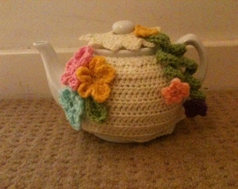 Tea cosy for a medium or large teapot (4 to 6) or (6 to 8) cups cozy handmade