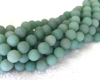 Matte Aventurine round beads - size 4mm to 12mm
