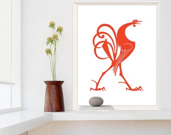 Extra Large Print, Rooster Decor, Farmhouse Chic, Kitchen Wall Art
