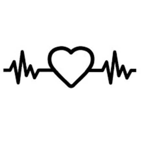 Items similar to Nurse Decal, Nurse Car Decal, Heart beat