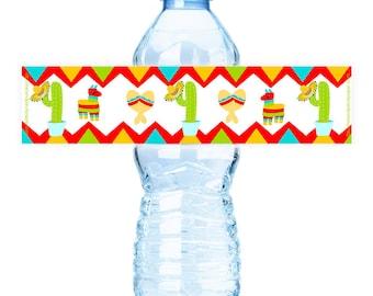 PRINTABLE Fiesta Party #Bottle #Labels - (Instant Download) #DIY #digital #printable #file