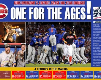 Chicago Cubs 2016 World Series Commemorative Poster