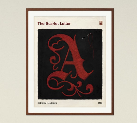 Scarlet Letter Cover: The Scarlet Letter Medium Literary Book Cover Print Bookish
