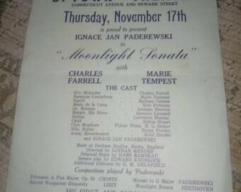 Moonlight sonata movie small paper poster