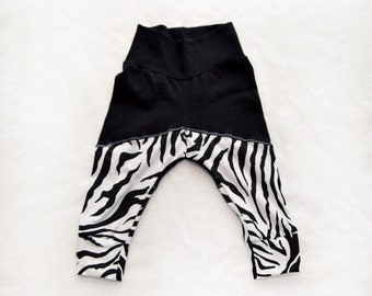 WILD CHILD Collection Infant or Toddler knit zebra panel leggings