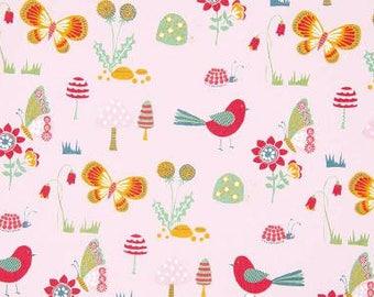 Printed cotton fabric spring meadows x50cm
