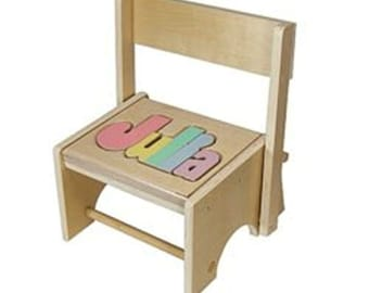 Flip Down or Up - Name Stool.  Learning their NAME!  Educational toy for a preschool child! Great for a child's room.