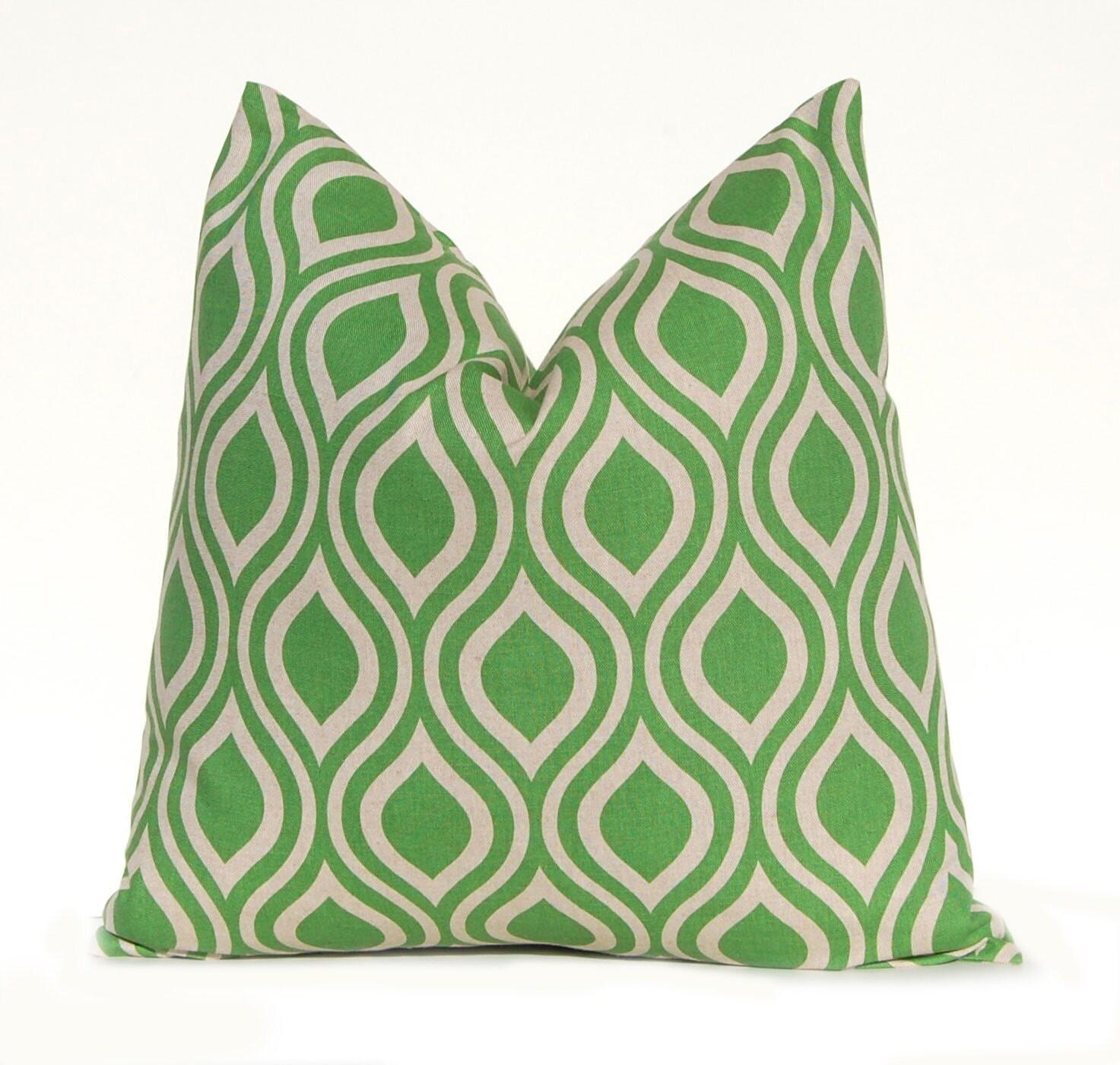 Green Pillow Covers 19 x 19 Green Cushions Throw Pillow
