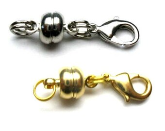 Magnetic Magnet Clasp Converter for Bracelet or Necklace (Silver / Gold Tone) - It is a very clever clasp CL031