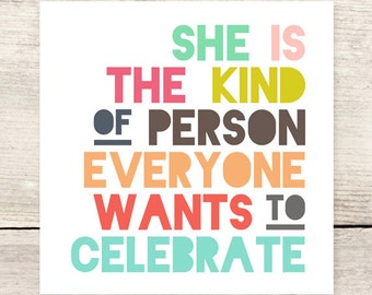 BEST SELLER! Female Any Occasion Celebration card, Mother's Day, Women