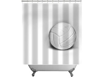 Volleyball Shower Curtain-Volleyball Bathroom-Teen Decor-Sports Bathroom Decor-Dorm Bath Decor-Shower Curtain-Gift Ideas-