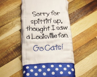 Kentucky baby etsy sorry for spittin up thought i saw a louisville fan uk baby gift kentucky baby cats baby wildcats baby can customize for any team negle Choice Image