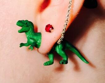 T-REX faux gauge STUD earrings
