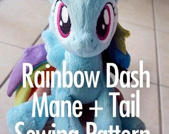 Rainbow Dash Mane + Tail Sewing Pattern