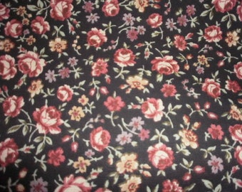 Heavy Weight Rose Print Fabric - 1 Yard and 29 Inches