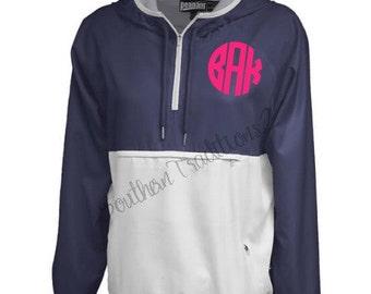 Monogram Rain Jacket - Monogram Raincoat - Monogrammed Rain Jacket