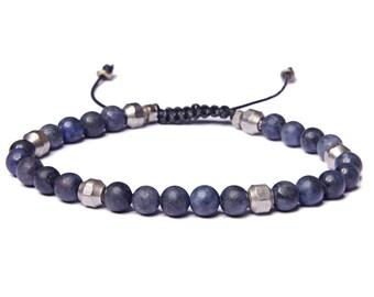 Bead Bracelet for Men - Beaded Dumortierite Men's Bracelet - Jewelry for Men - Bracelets for Men - Blue men's bracelet - Man Bracelet